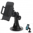 "H08 360' Rotation Car Suction Cup Mount Holder + C65 4.3""~5.1"" Bracket for Samsung / Iphone / HTC"