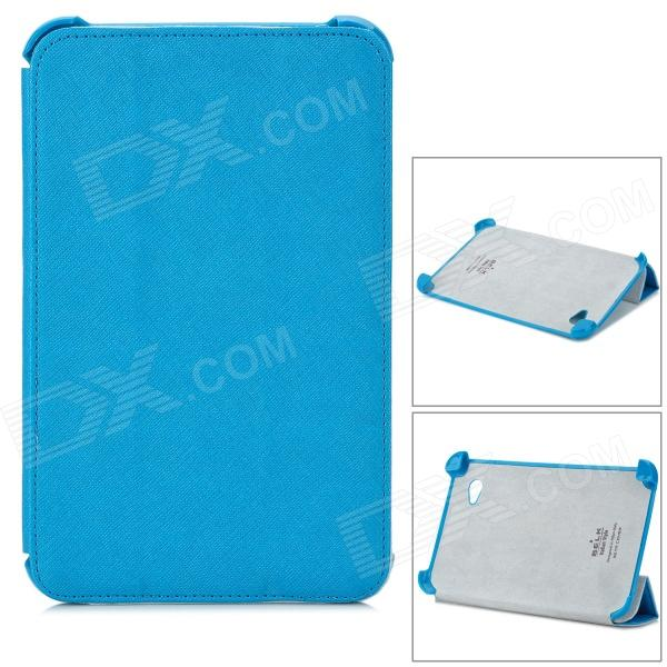 Stylish Protective PU Leather Case for Samsung P3100 - Blue