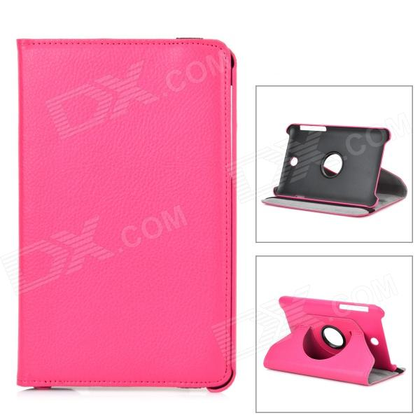 Lychee Grain Style Protective 360 Degree Rotation PU Leather Case for Asus 173 - Deep Pink lychee grain style protective 360 degree rotation pu leather case for asus 173 deep pink