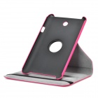 Lychee Grain Style Protective 360 Degree Rotation PU Leather Case for Asus 173 - Deep Pink