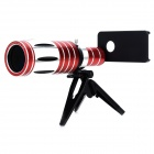 Powerful 9' Wide Angle Macro 50X Telephoto Lens for Iphone 5 / 5s - Scarlet + Silver + Black