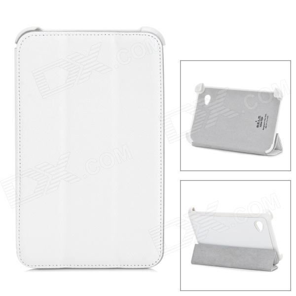 Stylish Protective PU Leather Case for Samsung P3100 - White
