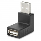 USB Male to USB Female 90 Degree Right Angle Adapter - Black