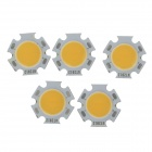 WT-GM N7 7W 700lm 3200K Warmweiß COB LED Light On Stern - Silber + Gelb (5 PCS / 22 ~ 23V)