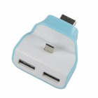 AYA-086 Portable Charging Docking Station w/ Micro USB for Samsung + More - White + Blue