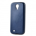 Seamless Protective PU Leather Back Case for Samsung Galaxy S4 i9500 - Dark Blue + Black