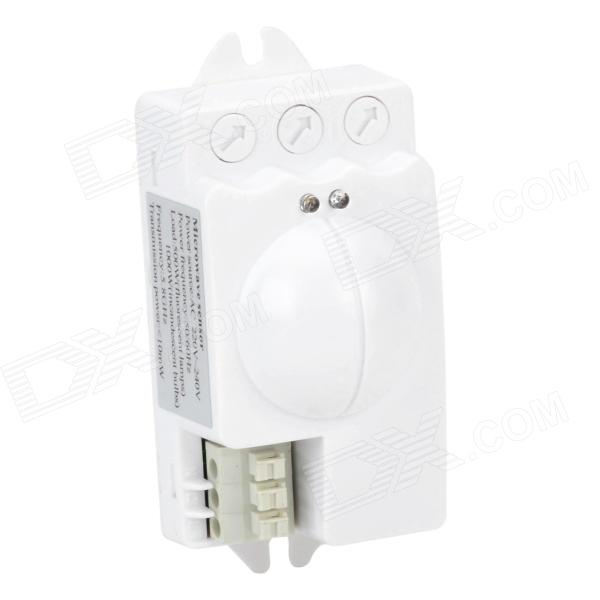 TCZ-3800 Microwave Radar Induction PIR Sensor Switch - White