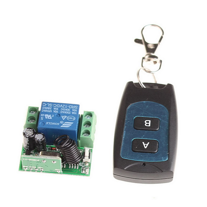 VGG11 12V 1-CH Multi-Function Wireless Remote Switch w/ Controller - Black + Green multi function green