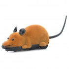 ST-222 2.7Mhz 2-CH Radio Control R/C Simulation Plush Mouse w/ Remote Controller - Brown + Black