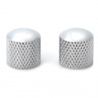 Iron + Plastic Tone Knob for Guitar - Metal Chrome (2 PCS)