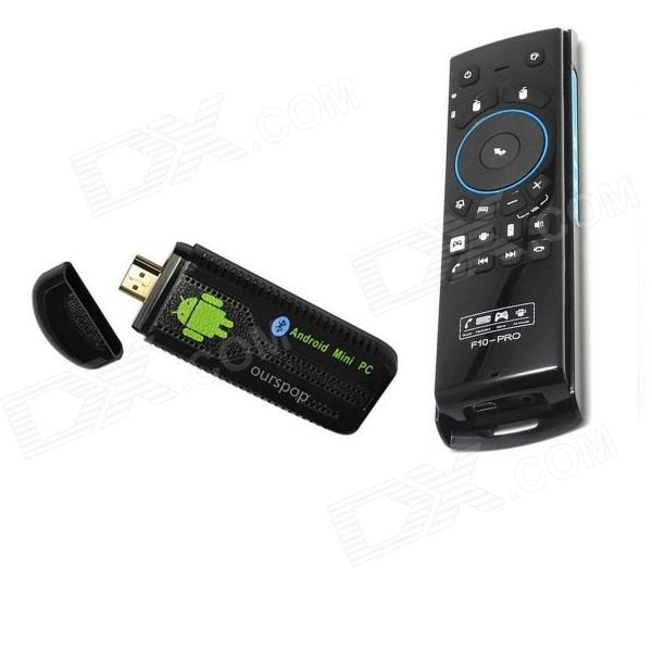 Ourspop U73 Quad-Core Android 4.2.2 Google TV Player w/ 2GB RAM, 8GB ROM + F10 Pro Air Mouse - Black stupid casual stupid casual настольная игра капитан очевидность 2