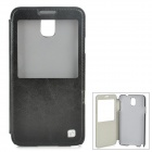 HOCO HS-L069 Retro Protective Case w/ Display Window for Samsung Galaxy Note 3 - Black