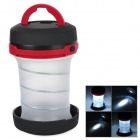 Portable Retractable Camping 3-Mode LED Lantern Flashlight - Black + Red (3 x AA)