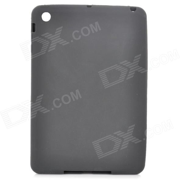 Protective Silicone Back Case for Retina Ipad MINI - Black creative s shape silicone back case matte protective case for retina ipad mini translucent grey