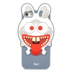 "Ounuo Cool Monster ""Ra"" Style Protective Silicone Case for iPhone 5 - White + Red + Grey"