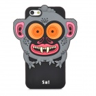 "Ounuo Cool Monster ""Sa"" Style Protective Silicone Case for iPhone 5 - Black"