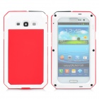 PEPK 003 3-in-1 Water-resistant Aluminum Alloy Case for Samsung Galaxy S3 - Red + White