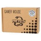 WEYES MS-929 Wired 6-Key USB Optical Gaming Mouse - Black + Red