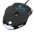 Weyes MS-929 con cable USB 6-Key 2,0 800/1000 / 1600 / 2400dpi Optical Gaming Mouse - Negro + azul