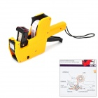 Price Labeller Tag Gun - Orange-yellow + Black