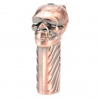 Skull Style Windproof Butane Gas Lighter - Bronze
