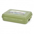 Protective Plastic Shock-Resistant Flashlight Case - Army Green