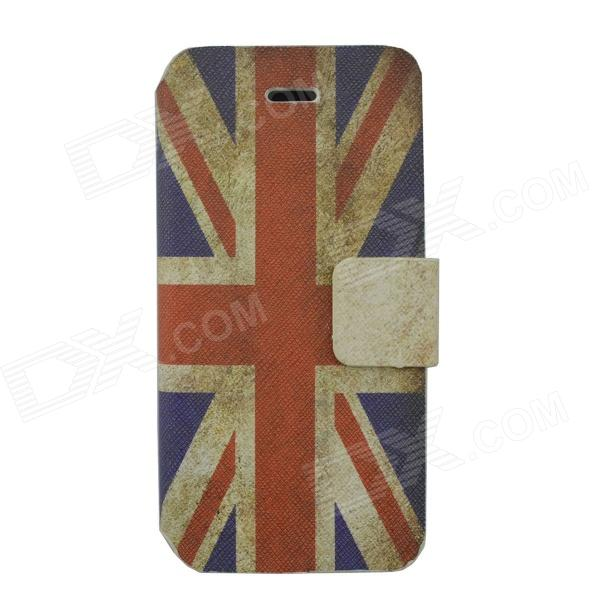 Union Jack Pattern Protective PU Leather Case Cover for Iphone 5C - Red + Blue + White stylish protective pu leather case for iphone 5c white transparent black