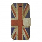 Union Jack Pattern Protective PU Leather Case Cover for Iphone 5C - Red + Blue + White
