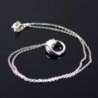 Round Fish Style 925 Silver Women's Necklace - Silver