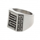 Fashionable Stainless Steel Ring for Men- Silver (US Size 10)