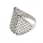 Fashionable 316L Stainless Steel Net Style Ring for Men - Silver (US Size 10)