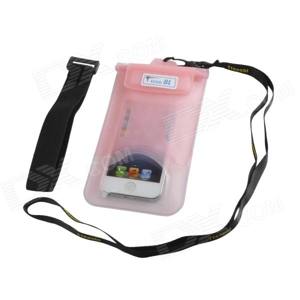 Tteoobl T-03C Protective TPU Waterproof Bag for Iphone 4 / 4S / 5 / 5s - Pink