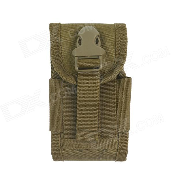 Waterproof Outdoor Nylon Mobile Phone Bag for Samsung / Iphone - Brown