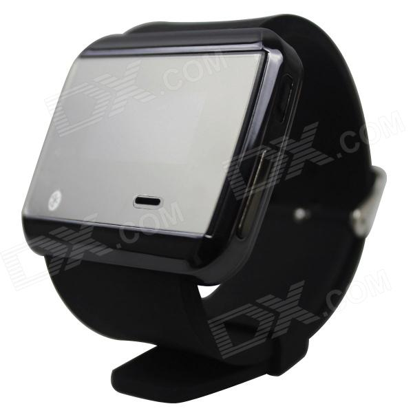 RuiQ Uwatch2 1.5 LCD Smartwatch Bluetooth V3.0 Watch Support Message Display - Black + Silver ux uwatch bluetooth 3d magsensor android iphone