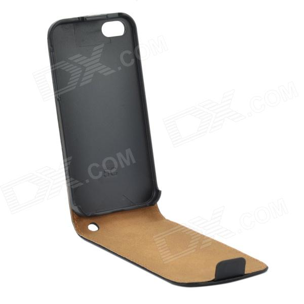 Flip-up Protective PU Leather Case Cover for Iphone 5C - Black