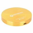 NP-027 5V 1000mA QI Standard Wireless Charging Transmitter / Charger for Cellphones - Golden + White