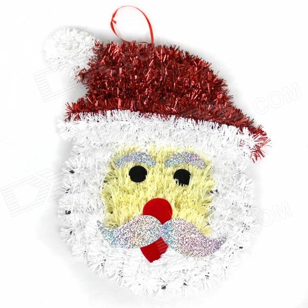 Santa Claus Jr Style Christmas Madder Wall Decoration - Black + White + Red + Yellow майка борцовка print bar tuesday 13