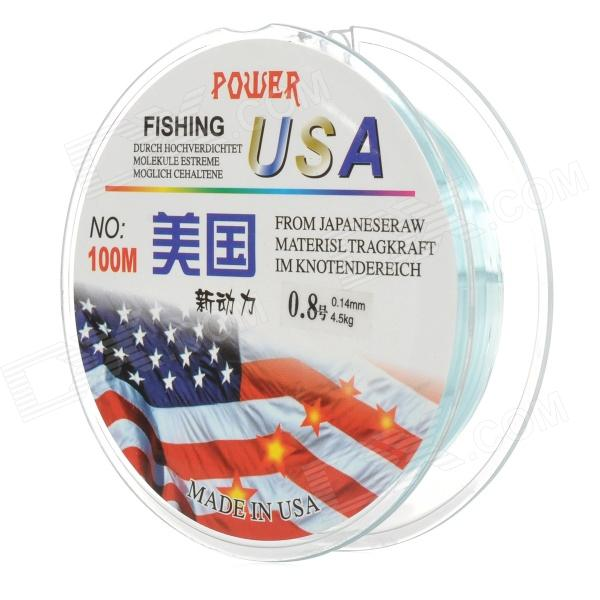 0.8 0.14mm Super Rally Nylon Fishing Wire - Blue (10m)