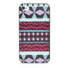 Tribal Ethnic Style Protective PC Back Case for Iphone 4 - Multicolor