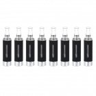 HDS131022 Stainless Steel Electronic Cigarette Round Mouth Atomizer - Black + Silver + White (8 PCS)