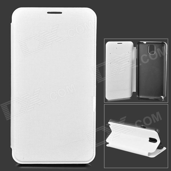 Stylish Protective PU Leather + PC Case for Samsung Galaxy Note 3 N9000 - White highscreen аккумулятор для easy s easy s pro 2200 mah