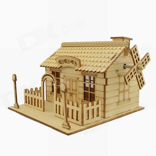 001 3D Woodcraft Assembly DIY Music Box House Puzzle - Wood (3-Board ...