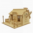001 3D Woodcraft Assembly DIY Music Box House Puzzle - Wood (3-Board)