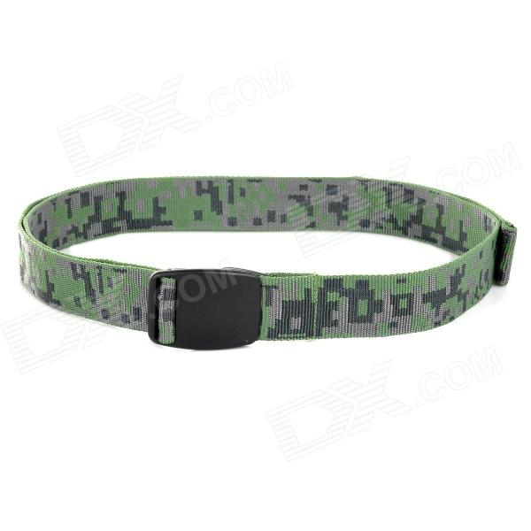CAXA Quick-Drying Polyester Waist Belt - Army Green factory direct fire flexible lifting belt buckle hanging two color polyester tape loading