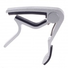 Alice A007D Aluminum Alloy Clip-On Quick Release Capo for Acoustic Guitar - Silver + Black