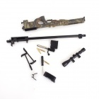 013 Full Zinc Alloy Detachable 1:4 Scale Britain AWP Gun Model Toy - Jungle Camouflage