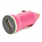 Universal 1A 5V USB Car Cigarette Lighter Plug Power Charger for Iphone / LG + More - Purple