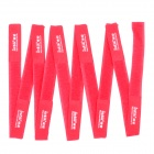 Intik Nylon Velcro Cord Cable Winders Organizers - Red (10 PCS)