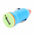 Universal 1A 5V USB Car Cigarette Lighter Plug Power Charger for Iphone / LG + More - Deep Blue