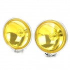 Replacement 12v 55w 525lm H3 Yellow Light Front Fog Lamp for Car - Silver + Yellow (2 PCS)